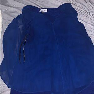 A Calvin Klein Blue Dress Top